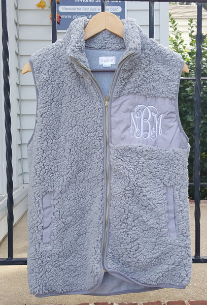 Camden Vest in Gray with White Lettering