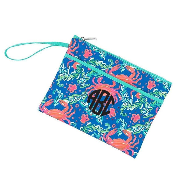 Viv & Lou Sand Hopper Zip Pouch Personalized