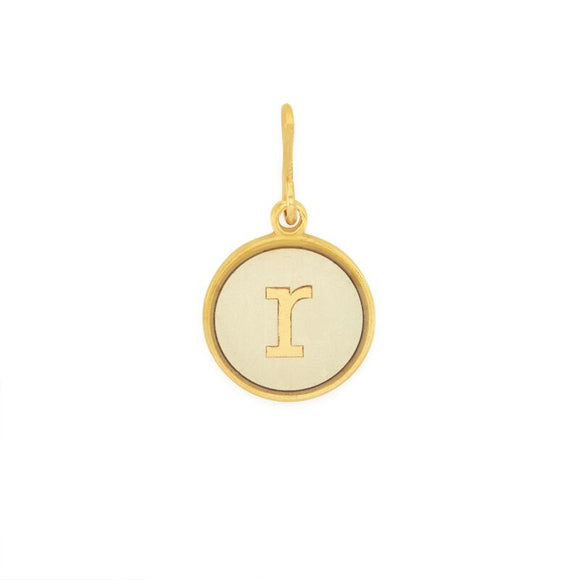 Alex and Ani Initial R Chain Station Charm Gold