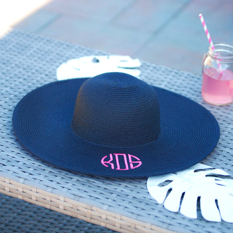 Viv & Lou Adult Monogrammable Sun Hat Navy