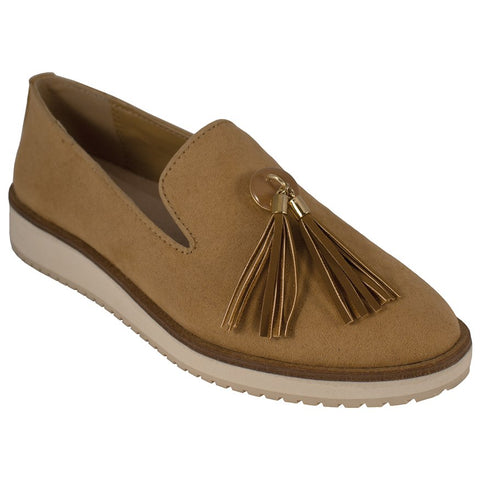 Lindsay Phillips Dayna Slip On Loafer Tan