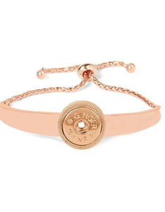 Ginger Snaps Adjustable 180 Bar Bracelet Rose Gold