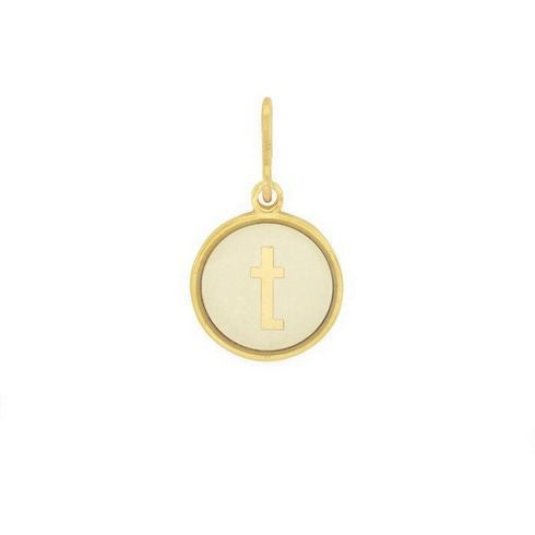 Alex and Ani Initial T Chain Station Charm Gold