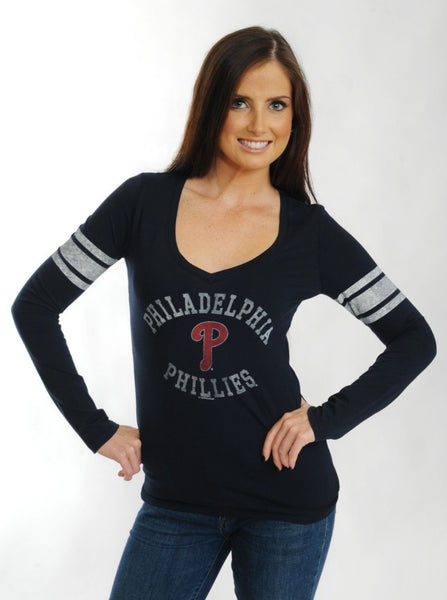 Philadelphia Phillies '47 Brand Home Run Long Sleeve Tee Navy Blue