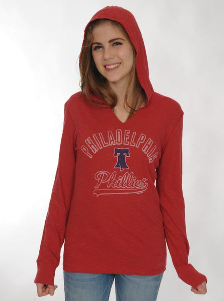 Philadelphia Phillies '47 Primetime Long Sleeve Hood Red