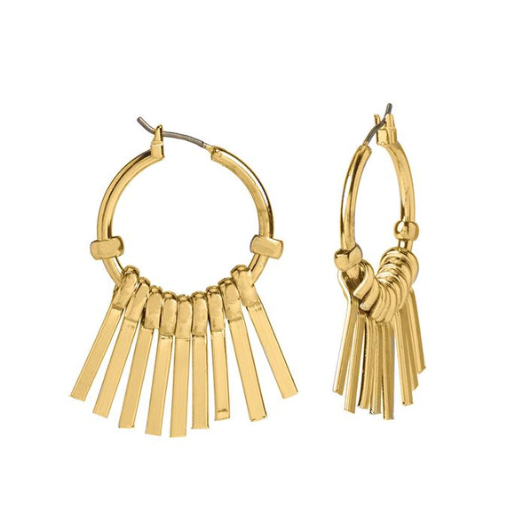Whispers Gold Sunray Dangle Earrings