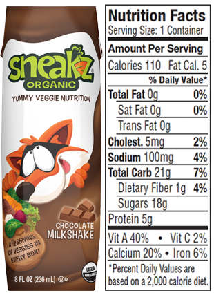 Sneakz Nutrition Facts