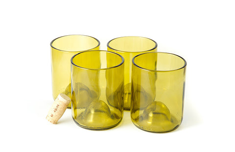 Olive 12oz Original Wine Punt Recycled Glasses