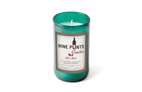 Mint Mojito Scented Candle In Recycled WIne Bottle Glass