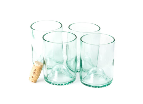Aqua 12oz Original Wine Punt Recycled Glasses