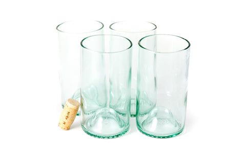 Aqua 16oz Original Wine Punt Recycled Glasses