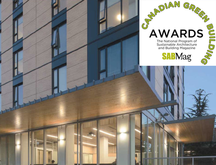Brock Commons Tallwood house receives SABMag Canadian Green Building Award 2018!