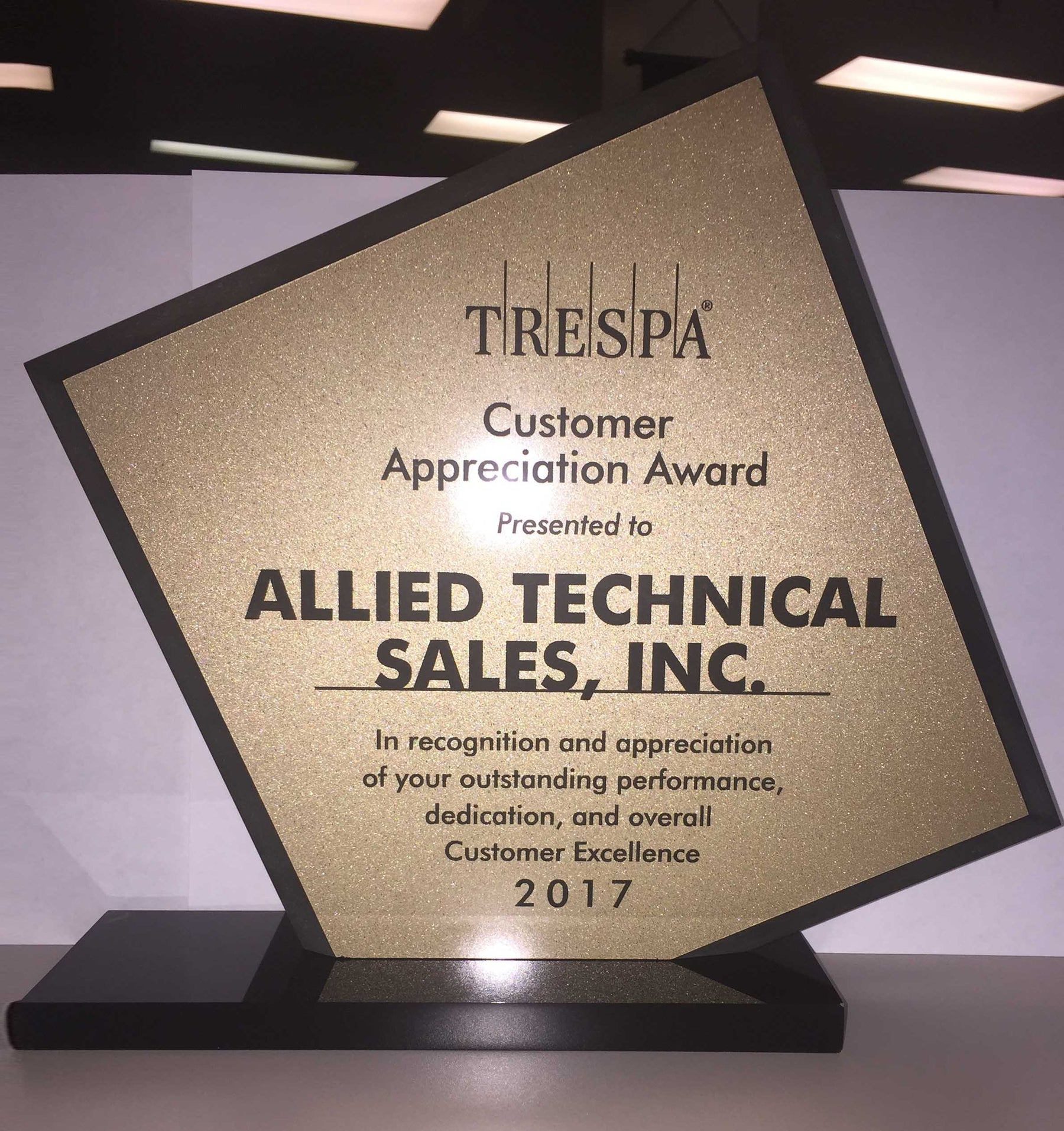 Allied Technical Sales receives Customer Excellence Award