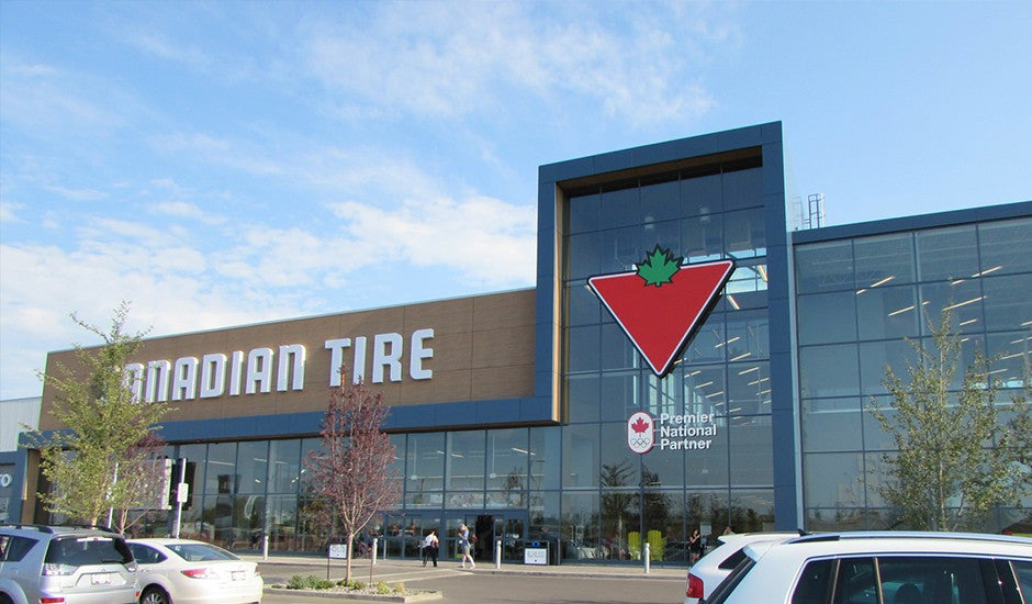 Canadian Tire in Alberta designed with Trespa® Meteon®
