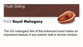 PU04 Royal Mahogany Trespa Pura NFC<sup>®</sup> Flush Siding