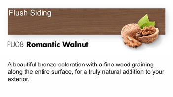 PU08 Romantic Walnut Trespa Pura NFC<sup>®</sup> Flush Siding