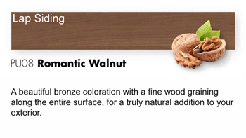 PU08 Romantic Walnut Trespa Pura NFC<sup>®</sup> Lap Siding