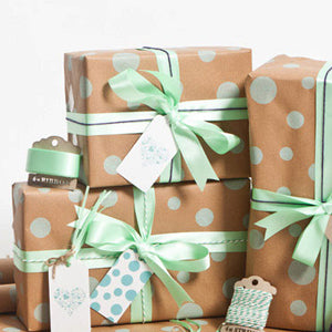 Gift wrapped packages Guft registry The Milk Moustache Princeton Illinois
