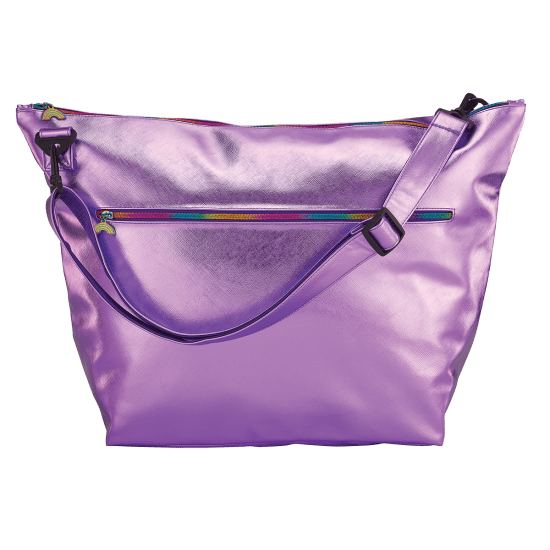 Purple Metallic Weekender Bag - The Milk Moustache