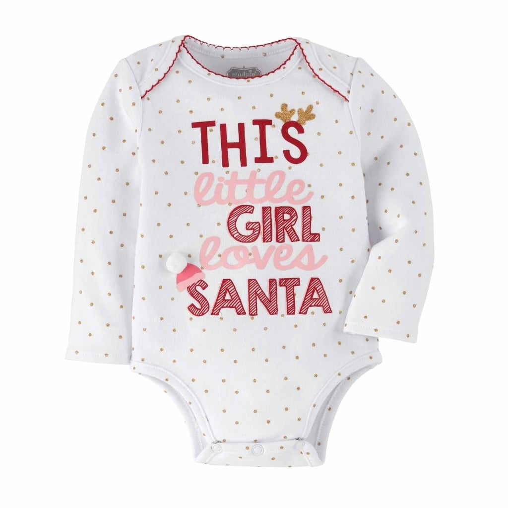 This Girl Loves Santa Onesie - The Milk Moustache