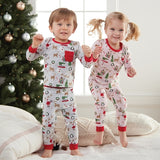 Christmas Print Pajamas - Pink - The Milk Moustache