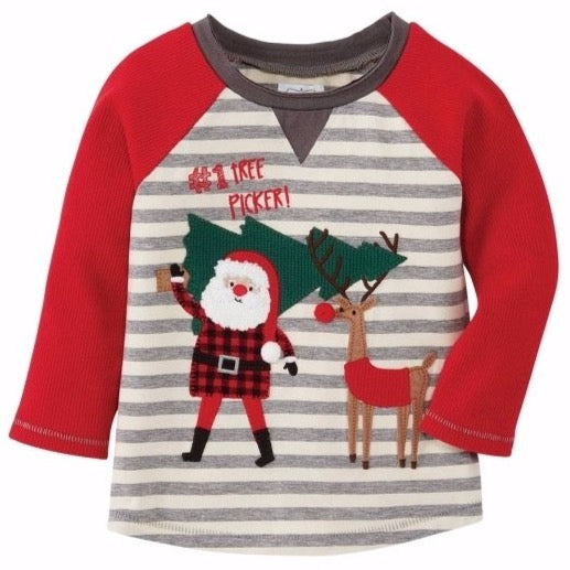 Santa Reindeer Tee - The Milk Moustache