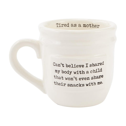 Tired As A Mother Parent Mug - The Milk Moustache