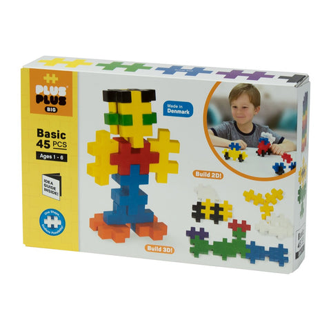 Plus-Plus Construction Toy - BIG 45-Piece Set (Pastel Available)