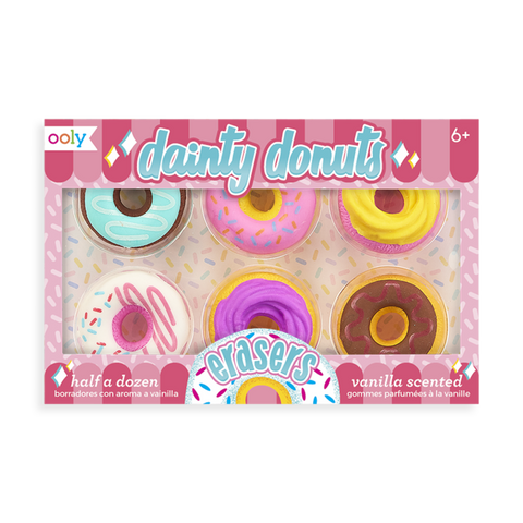 Ooly Dainty Donuts Scented Erasers - Set of 6 - The Milk Moustache