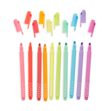 Pastel Mints Scented Flextip Highlighters - Set of 10