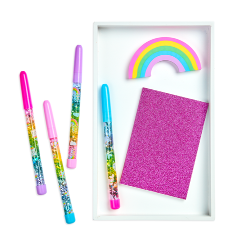 Rainbow Glitter Wand Pen - The Milk Moustache