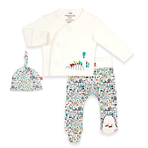 Magnetic Me Fun Fair Organic Cotton 3-Piece Kimono Set - The Milk Moustache
