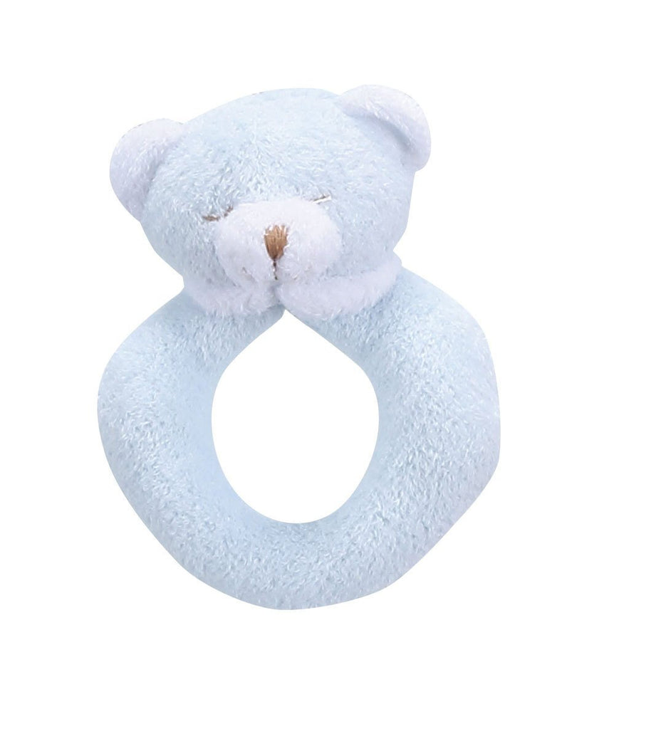 Animal Ring Rattles Bear - Blue Angel Dear The Milk Moustache - 2