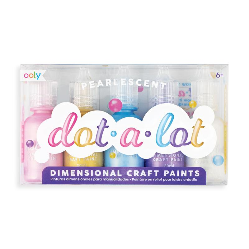 Dot-A-Lot Craft Paint Set of 5 - Pearlescent - The Milk Moustache