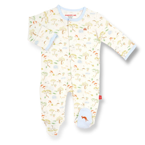 Magnetic Me Land Down Under Organic Cotton Footie - The Milk Moustache