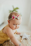Baby Bling 2-Pack Mini Print Skinny Bow Headband - Assorted Colors - The Milk Moustache