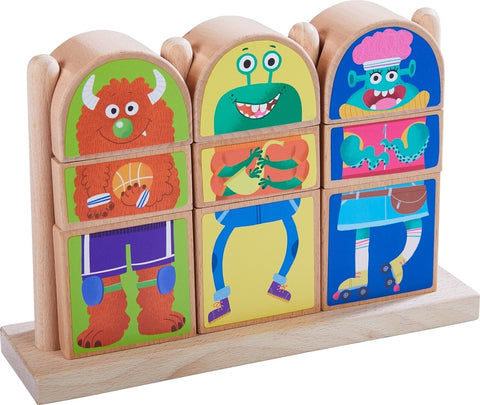 Haba Mix and Match Monster Blocks