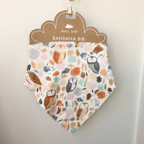 Angel Dear Bandana Bib - Autumn Owls - The Milk Moustache