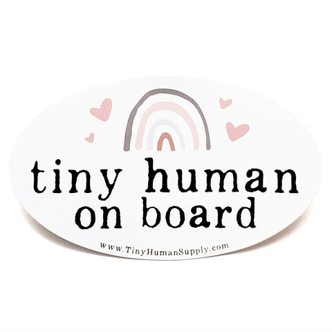 Tiny Human On Board Bumper Sticker - The Milk Moustache