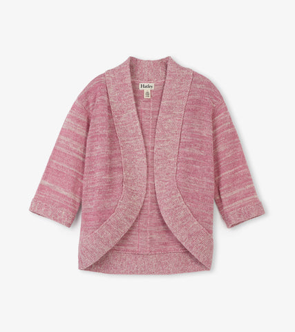 Hatley Shimmer Pink Cardigan - The Milk Moustache