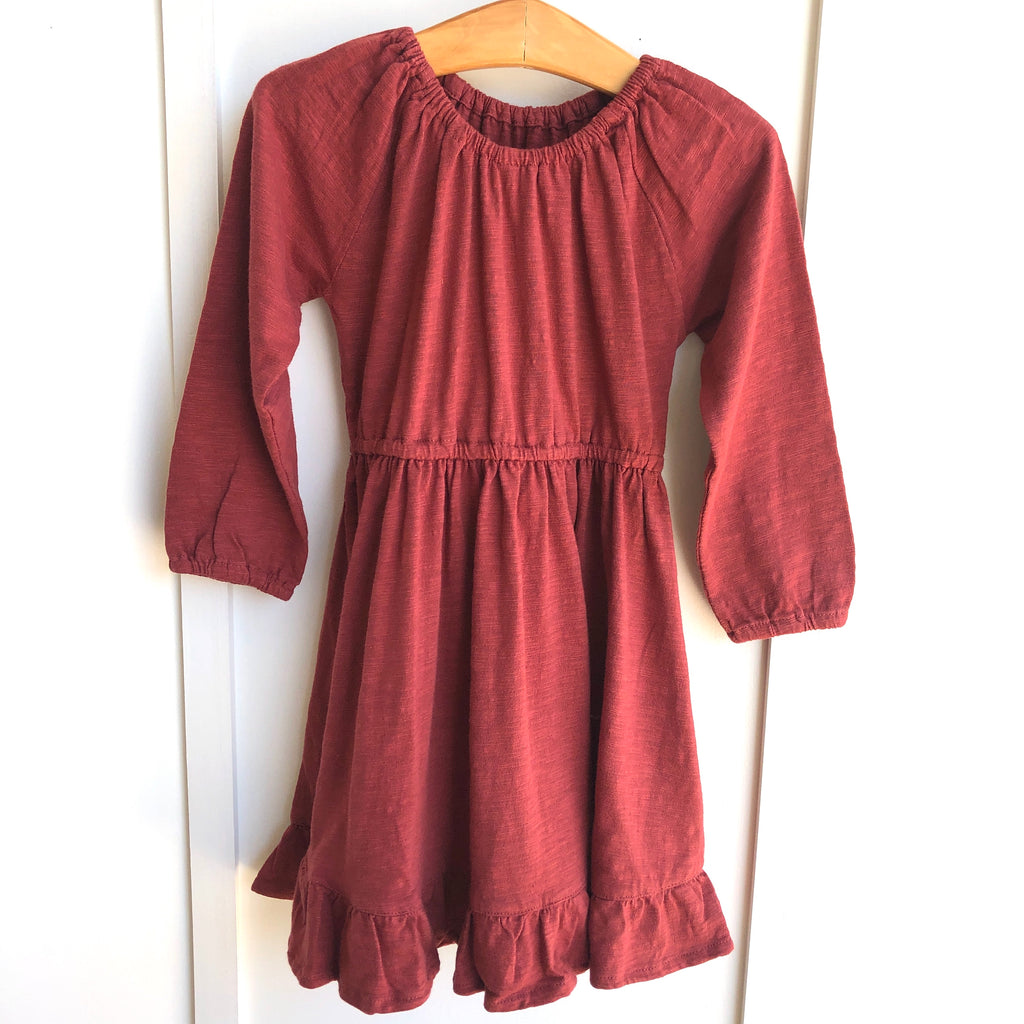 City Mouse Slub Dress in Paprika - The Milk Moustache