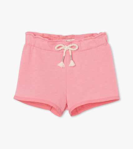Hatley Light Pink French Terry Paper Bag Shorts - The Milk Moustache