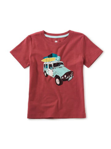 Tea Collection Sand Cruiser Graphic Tee in Earth Red - The Milk Moustache