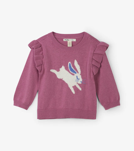 Hatley Sweet Bunny Baby & Toddler Ruffle Sweater - The Milk Moustache