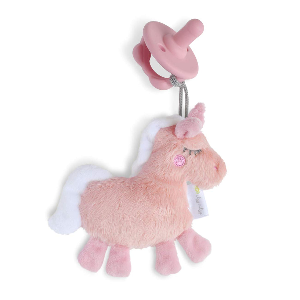 Itzy Ritzy - Sweetie Pal Plush & Pacifier - Unicorn - The Milk Moustache