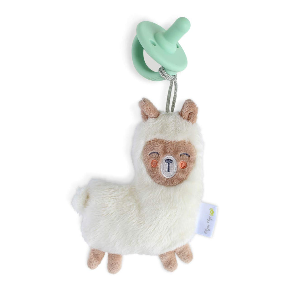 Itzy Ritzy - Sweetie Pal Plush & Pacifier - Llama - The Milk Moustache