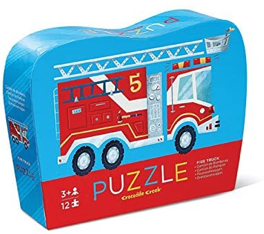 12-Piece Mini Puzzle Fire Truck - The Milk Moustache