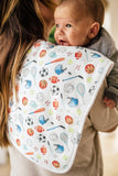 Copper Pearl Burp Cloth Set - Varsity - The Milk Moustache