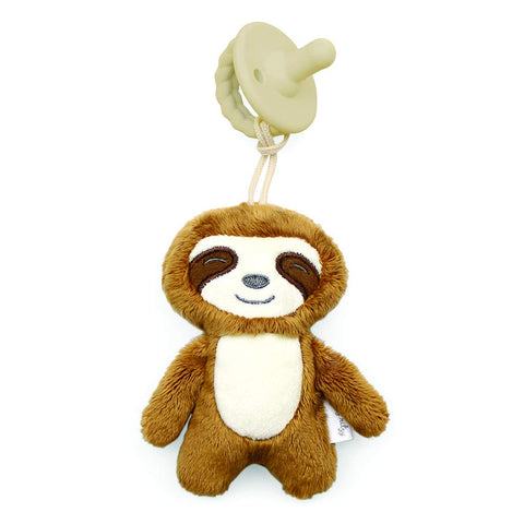Itzy Ritzy - Sweetie Pal Plush & Pacifier - Sloth - The Milk Moustache