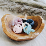 Itzy Ritzy - Sweetie Soother Pacifier 2-Pack - Robins Egg Blue & Navy Cables - The Milk Moustache